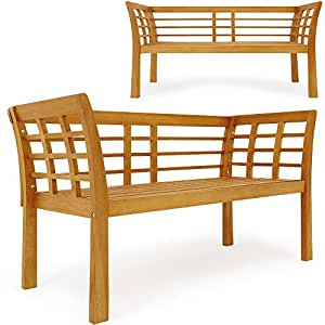gartenbank jupiter 130 cm eukalyptus holz m bel balkon terrasse brett. Black Bedroom Furniture Sets. Home Design Ideas