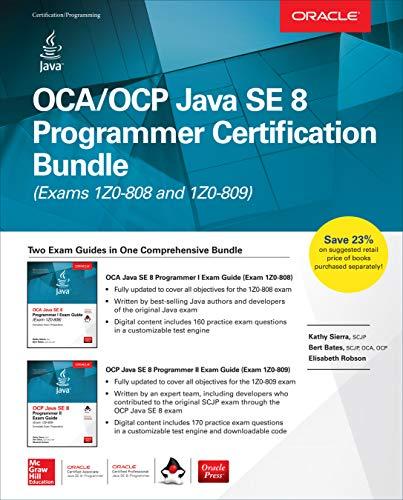OCA/OCP Java SE 8 Programmer Certification Bundle (Exams 1Z0-808 and 1Z0-809) (English Edition) por Kathy Sierra