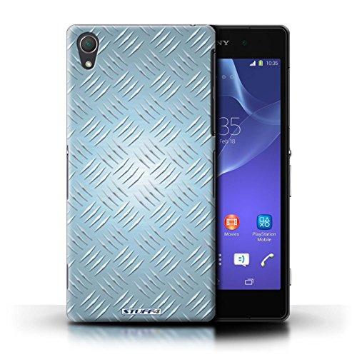 Kobalt® Imprimé Etui / Coque pour Sony Xperia Z2 / Rose conception / Série Motif en Métal en Relief Bleu
