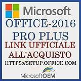 MS Office 2016 PRO.P | Link Ufficiale Agli Acquisti | Con Fattura | Versione completa, Licenza a vita originale, codice di attivazione della licenza e-mail e tempi di consegna del messaggio: da 6 ore