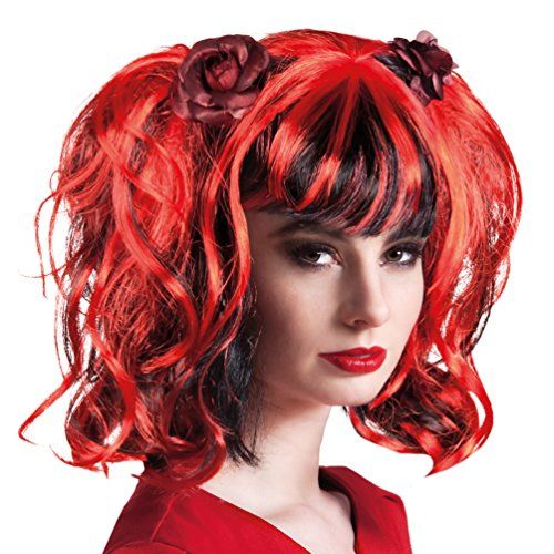 Zubehör Erwachsene Sexy Für Kostüm Perücke - Karneval-Klamotten' Kostüm Perücke Teufelin Sexy Zubehör Halloween Karneval