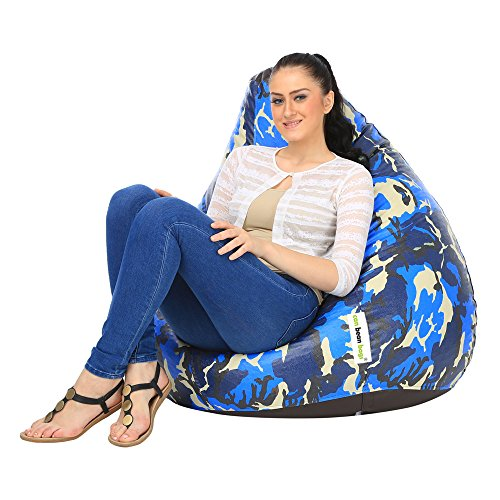 can bean bags Blue Camouflage XL Digital Printed Bean Bag Cover Without Beans