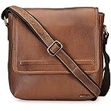 Teakwood Handcrafted Real Genuine Leather Sling Bag Cross-body Messenger Bag