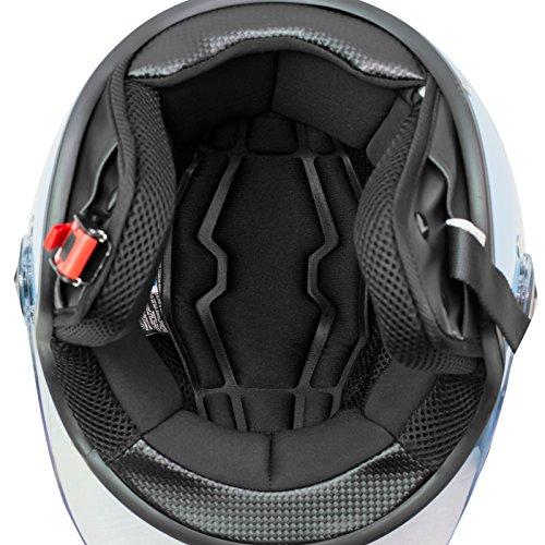 Casco Jet Scooter Moto Quad Omologato ECE 22 05 Visiera Nero S