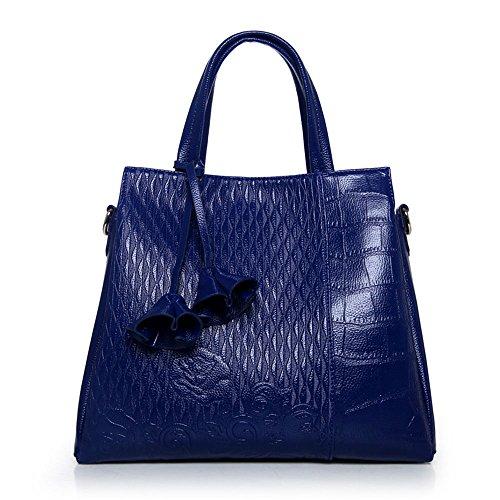 FavoMode, Borsetta da polso donna nero Schwarze Handtasche taglia unica Königsblaue Handtasche