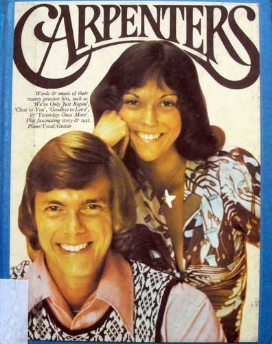 Carpenters songbook (words and music for their twenty greatest hits, plus fascinating story and text, piano, vocal, guitarr)