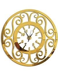 662357c9ce4b AECDD Personalidad Flor Rota Reloj de Pared DIY Creativo Espejo acrílico  Mute Dormitorio Etiqueta de la Pared Reloj de…