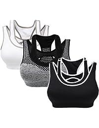 Yolev Soutien-gorge de Sport Rembourré Brassière sans Armature Femme pour Yoga Courir Fitness Running