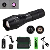 "A100 850NM LED Infrared Torch � Outdoor IR Flashlight - Long Range Infrared Illuminator + Recharge Battery + Charge + Remote Pressure Switch+ 1"" Scope Ring Set, Side Mount(All-in-One Kit)"