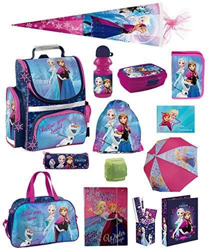 Disney die Eiskönigin Schulranzen-Set 19tlg. Sporttasche Regenschutz Schultüte 85cm Frozen PL
