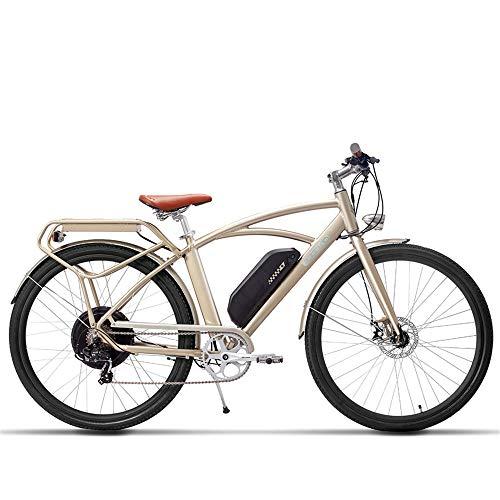 MSEBIKE Comet 700C Bicicleta Eléctrica 48 V 13Ah 500 W Bicicleta Eléctrica de Alta Velocidad 5 Nivel Pedal Assist Largo...