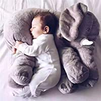 Mystery&Melody Cute Elephant Pillow Stuffed Animals Plush Pillows For Baby Kids Sleeping Soft Plush Toys