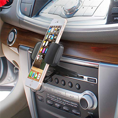 K8U151 @FATO Bakeey Clip Type 360 Degree Rotation Car CD Slot Mount Holder Stand for iPhone Mobile Phone -
