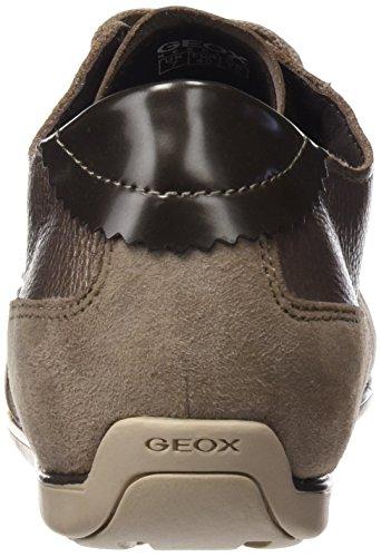 Geox D Nouveau Moena A, Baskets Basses Pour Femmes Beige (lead / Taupec9hq6)