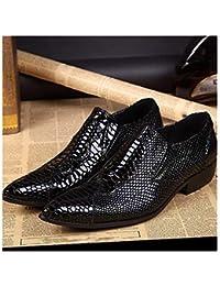 165cf11bc2562 Rui Landed Oxford para Hombre Zapatos Formales de Deslizamiento en el  Estilo Cuero Genuino cocodrilo Textura