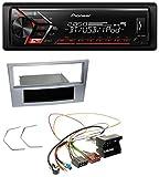 caraudio24 Pioneer MVH-S300BT MP3 Bluetooth Aux USB Autoradio für Opel Astra H Zafira B Corsa D ab 2005 Matt-Chrom