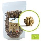 Walnüsse BIO von Jalall D'or   aus Osteuropa   750g   ganze Hälften   fein herbes Walnuss-Aroma   Optimales Verhältnis von OMEGA 3 zu OMEGA 6 Fettsäuren   frisch abgefüllt   Walnusskerne Premium