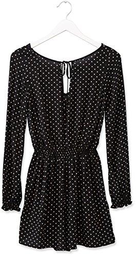 FIND Robe Cintrée à Pois Femme Noir (Black)