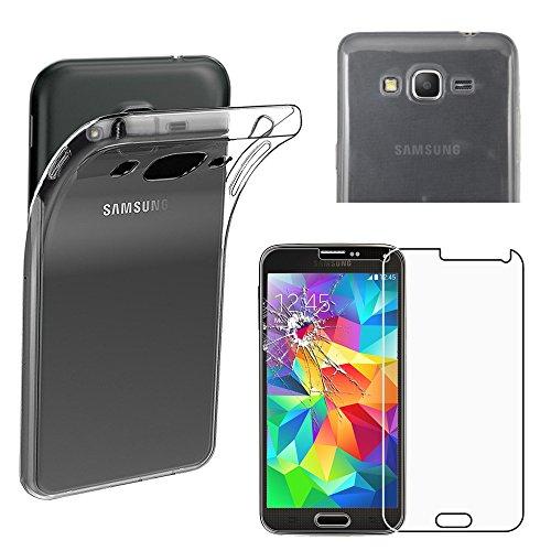 ebestStar - Compatible Funda Samsung Grand Prime Galaxy G530F, Value Edition G531F Carcasa Silicona, Protección Claro Ultra Slim, Transparente + Cristal Templado [Aparato: 144.8 x 72.1 x 8.6mm 5.0'']