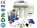 finerfilters Domestic Home Selbsteinbau 5Stufen Umkehrosmose System mit Fluorid Entfernung (50gpd), für die sehr Beste Trinkwasser