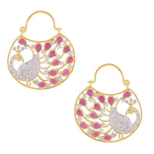swasti-jewels-zircon-cz-fashion-jewelry-traditional-ethnic-peacock-hoop-earrings-for-women