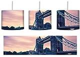 London inkl. Lampenfassung E27, Lampe mit Motivdruck, tolle Deckenlampe, Hängelampe, Pendelleuchte - Durchmesser 30cm - Dekoration mit Licht ideal für Wohnzimmer, Kinderzimmer, Schlafzimmer