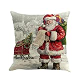 Covermason Christmas Xmas Santa Dyeing Series Cushion Cover Sofa Bed Home Decor Pillow Case (H)
