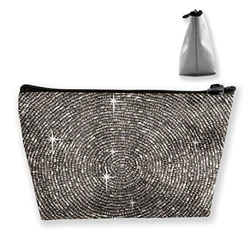 White Silver Gray Bling Diamond Bag Cosmetic Bags Makeup BaLarge Travel Toiletry Pouch