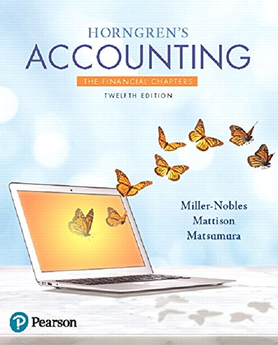 Horngren's Accounting: The Financial Chapters