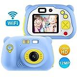 Pacnellent Digitale Kamera für Kinder Robuste HD Kinderkamera 2,0 Zoll Farbdisplay 1200 Megapixel 1080p Videokamera mit 16 GB Speicherkarte und USB Kabel (blau)