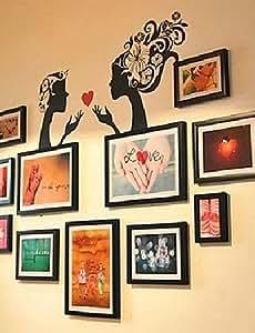 BEAUTS Photo Black White di colore misto Frame Collection Set di 11 con Donne Wall Sticker