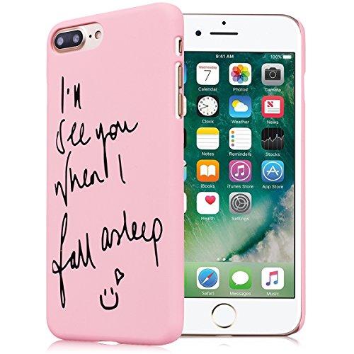 Cover per iPhone 7 Plus, VemMore Custodia in Difficile Hard Plastica PC Case Ultra Sottile Protettiva Resistente Hardcase Caso Antiurto Anti Graffio Paraurti Shock Proof Bumper Copertura con Superfici Faccia Smile