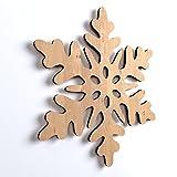 10x Schneeflocke, Weihnachten, Weihnachtsschmuck, Holz, Basteln, Bemalen, Hängedeko,Weihnachtsbaum, Winterdeko