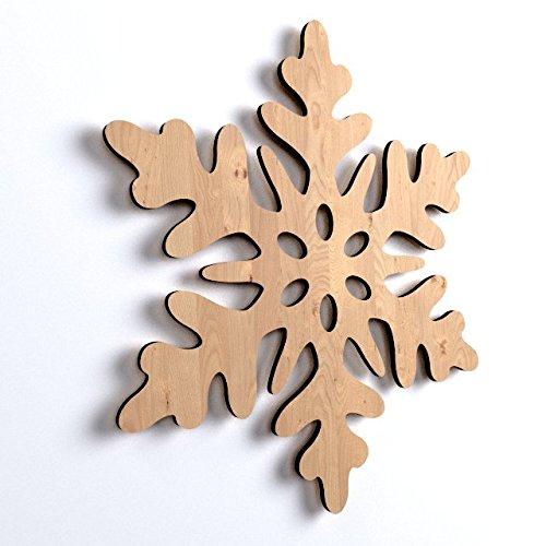 10x schneeflocke weihnachten weihnachtsschmuck holz basteln bemalen hngedekoweihnachtsbaum winterdeko 8800155681589 - Holzbasteln