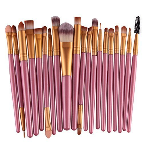 Susenstone 20 pcs/sets Maquillage Outils Maquillage Toilette Kit Laine Faire Up Brush Set