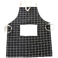 Lubier 1 piezas Algodón Cocina Chef Delantales Cafe Cocina Delantal durable Uniforme Delantales para hombres Mujeres size 67×61.5cm (Negro)