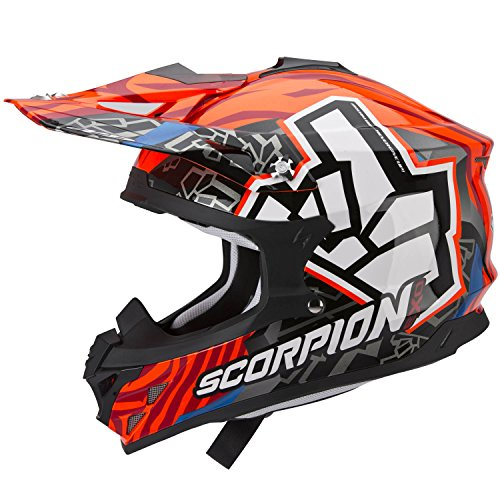 Scorpion-Casco-moto-VX-15-EVO-AIR-ROK-BAGOROS-Neon-Arancione-L