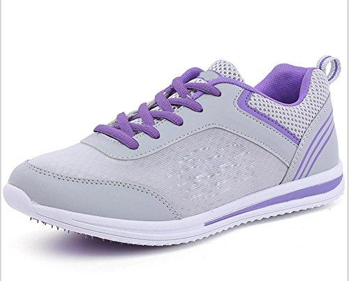 Ms. sport e tempo libero scarpe antiscivolo in esecuzione scarpe ascensore Ms. Autunno gray purple