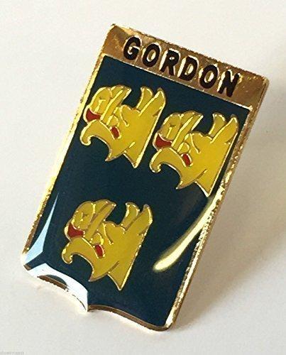 Schottland Familie Clan Namen Gordon CRESTED Anstecknadel