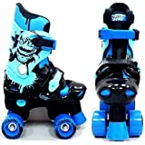 NEW EXCLUSIVE ELECTRIC BLUE OSPREY BOYS QUAD SKATES KIDS ROLLER BOOTS ADJUSTABLE 3 SIZES