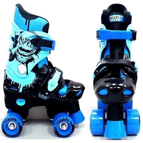 Osprey pour enfant Bleu électrique Osprey Patins à roulettes pour enfants réglable Roller Bottes, Enfant, Electric Blue Osprey Quad Skates, bleu