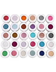 LIFECART 30 Mixed Color Glitter Mineral Eyeshadow Makeup Eye Shadow Powder