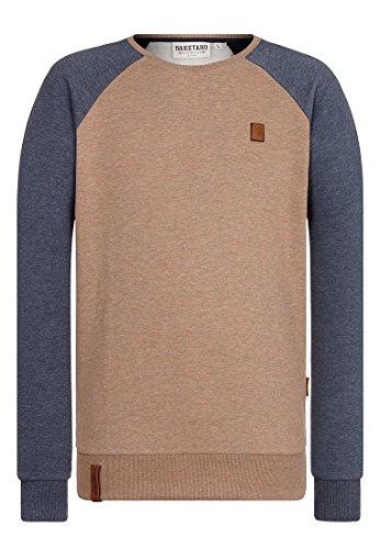 Naketano Male Sweatshirt The Jordan Rules II Dünnschiss-Indigo Blue Melange, XL (Braun Sweatshirts Für Männer)
