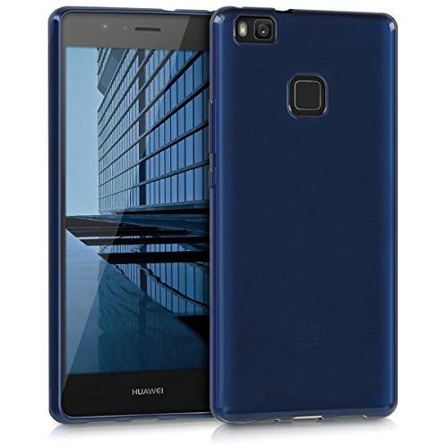 Kwmobile huawei p9 lite cover - custodia per huawei p9 lite in silicone tpu - backcover protezione azzurro brillante