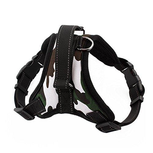 LineNow Mittelgroße Hunde Haustier Brustgeschirr Sicherheitsgeschirr Soft einstellbare Tarnfarbe M