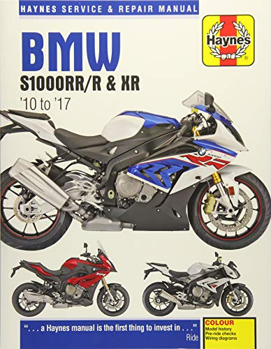 BMW S1000RR/R & XR Service & Repair Manual (2010 to 2017) (Haynes Motorcycle)