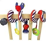 Vi.yo Cute Bird Plüsch Kinderwagen Spirale Spielzeug Kinderwagen Kinderbett Spielzeug mit Musical Bells, 1 Stück