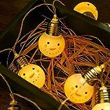 Prevently LED Lichterkette,Weihnachts-Deko Weihnachten Schneemann Lichterkette Schnur Cartoon Weihnachtsmann Fenster Vorhang Lichter String Lampe Party Decor 1,5 m 10 geführt
