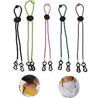 5 Pack Maske Anti-Verlust-Ohrenfalle Lanyard, verstellbarer Maskenohrriemen, verstellbare Schnalle, verlängerte Maske…
