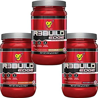 BSN Rebuild Edge 450G 3 in 1 Post Workout Stack - R3Build ( Includes Creatine, Glutamine & BCAA ) by BSN